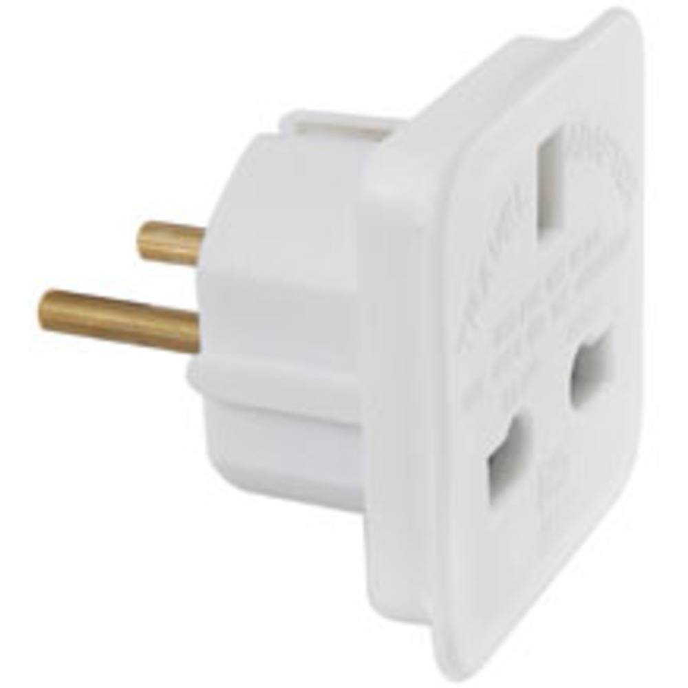 UK to Europe Mains plug travel adaptor - 7.5A