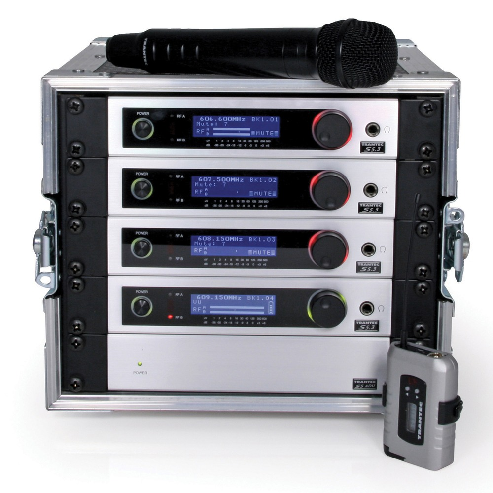 Trantec S5.3 Cube-4W with 4 radio mics