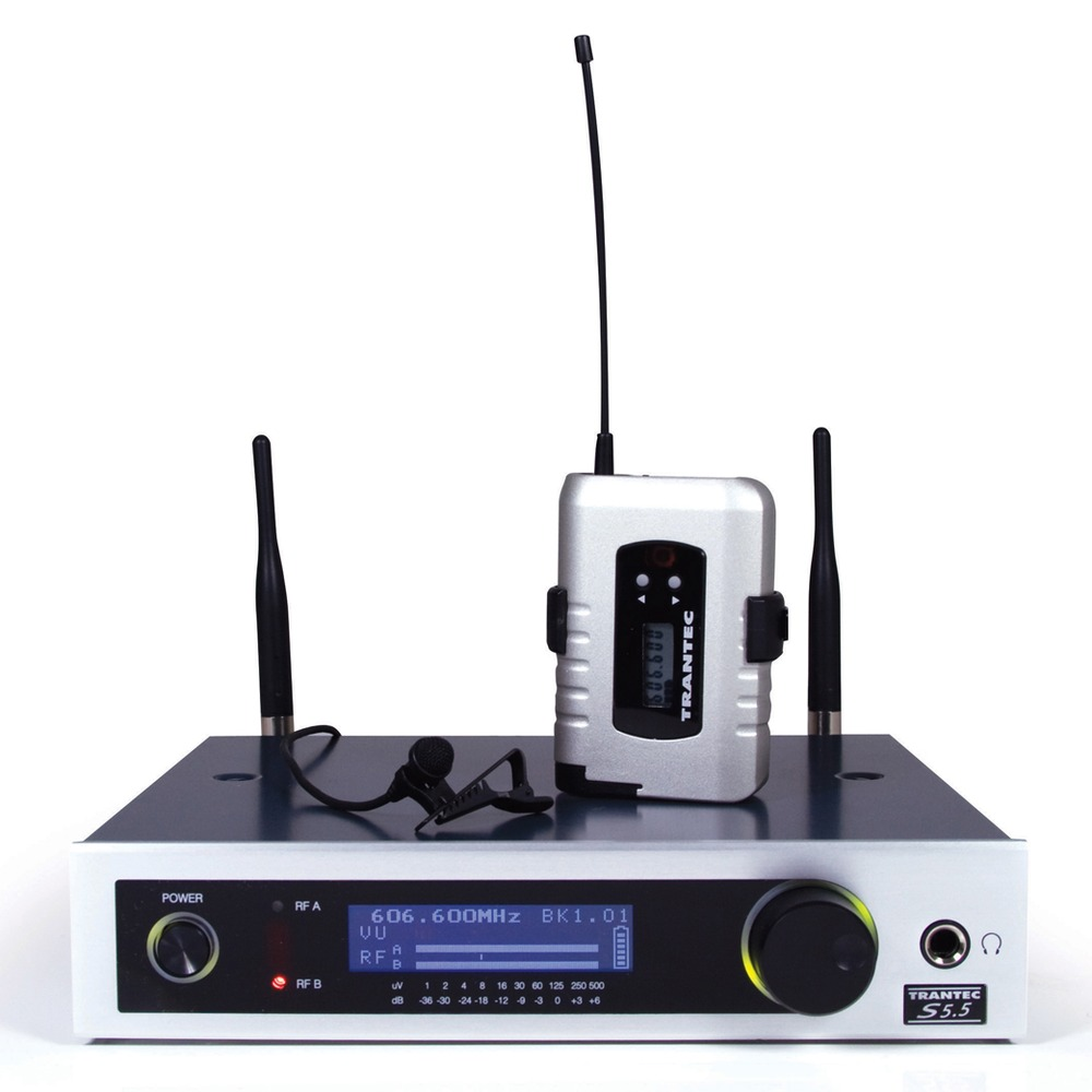 Trantec S5.5L LP2 Lapel Radio Microphone System