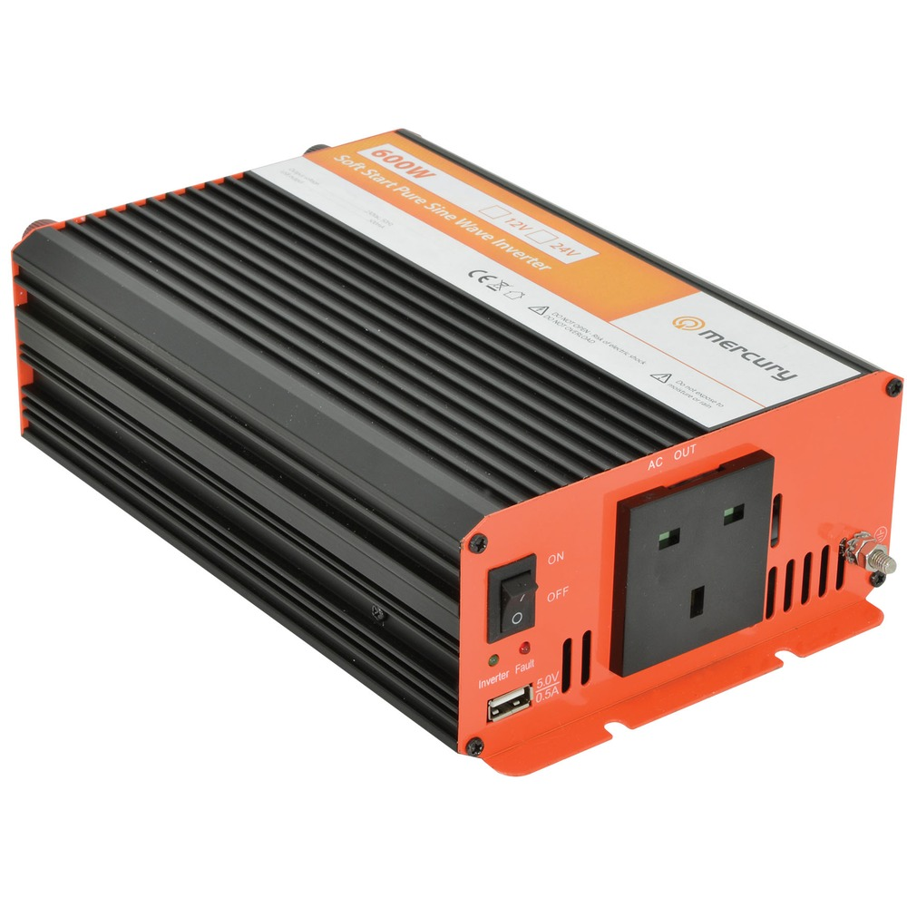 24V DC to 230V ac 600W Pure Sine Wave Inverter