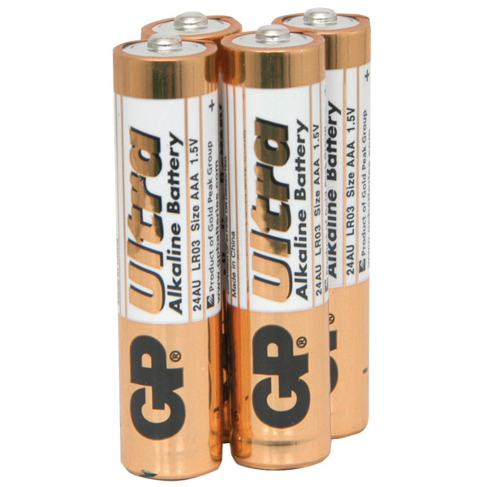 AAA alkaline batteries, GP Ultra - pack of 4