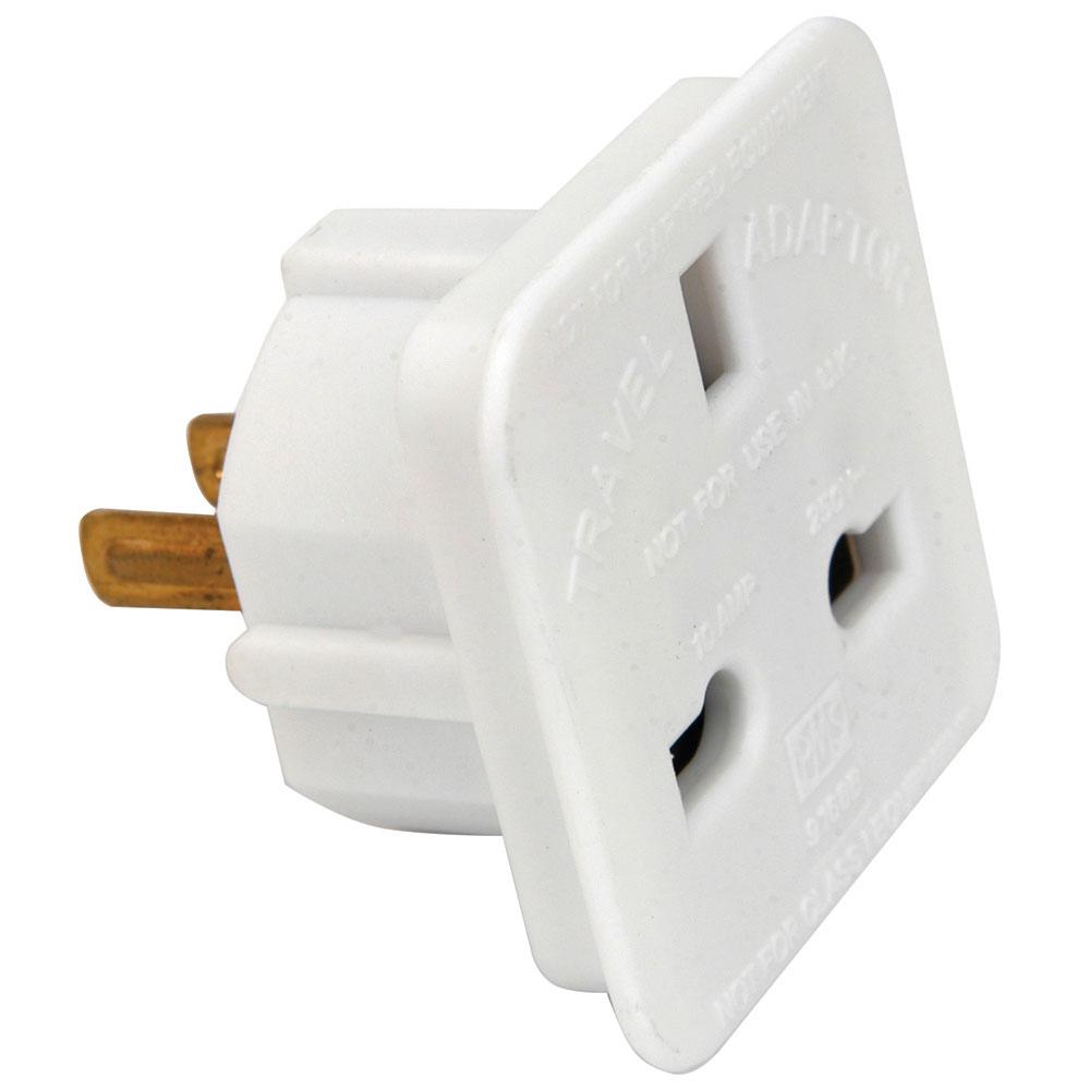UK 13 amp socket to 2 pin American plug travel adaptor