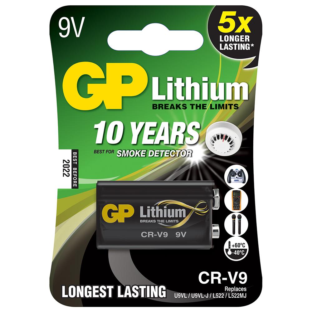 9V Lithium PP3 Battery CR-V9