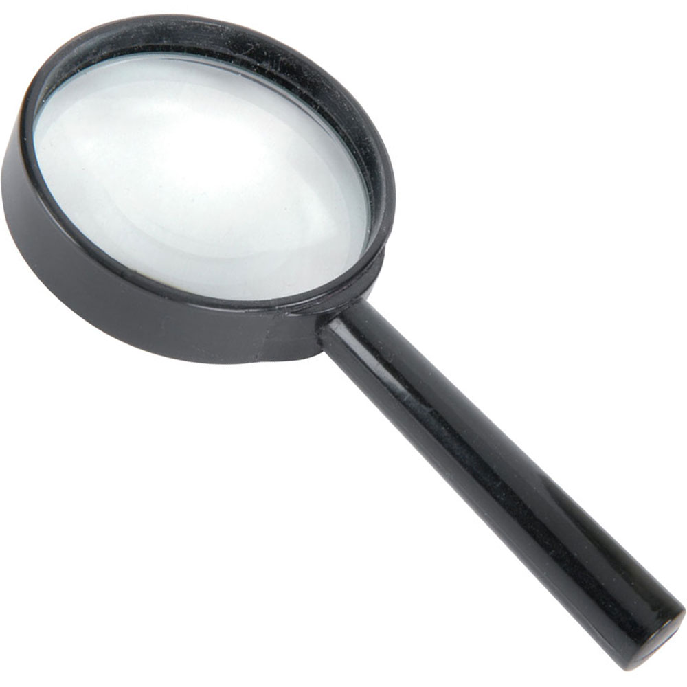 Handheld 6x Magnifier, 65mmØ with Glass Lens