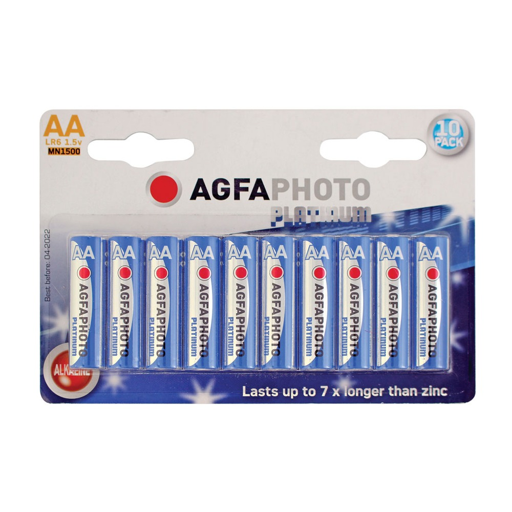 AGFA PHOTO Alkaline AA Battery. Blister pack of 10