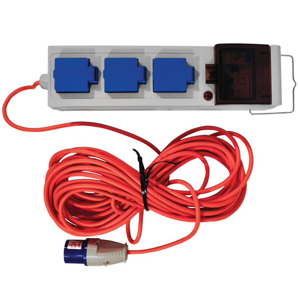 CEEFORM extension block 230V 10A with RCD