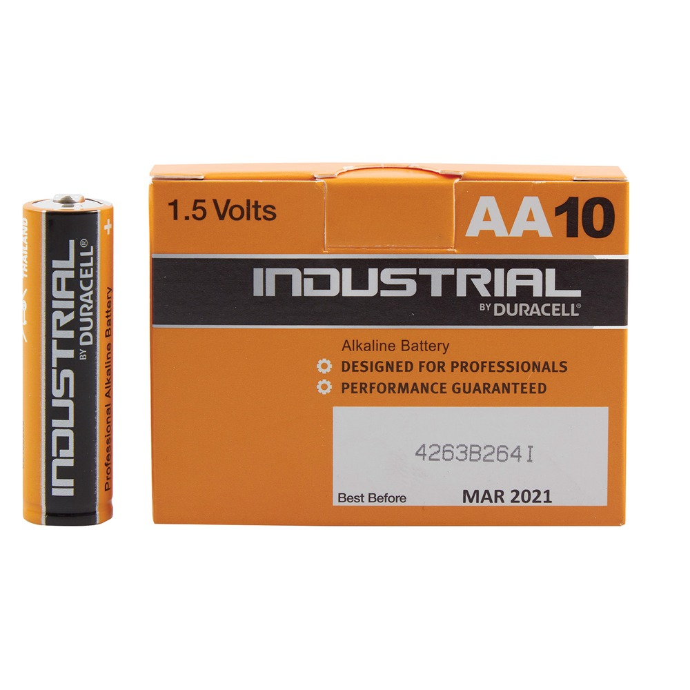 Industrial by Duracell - AA Alkaline Battery - 10 Pack