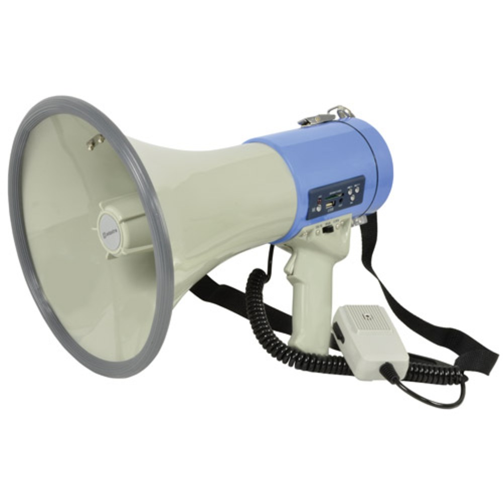 25W megaphone with USB/SD player