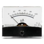 A 100uA dc dc moving coil meter with wide angle, mirrored scale and zero adjustment. Supplied with screw fixing kit- Size – 60.3(W) x 46.3(H) x 39(D)mm