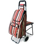 Shopping and Leisure Trolley with Flip Down Seat