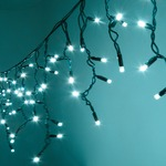 300 Cyan Heavy Duty Outdoor LED Icicle String Lights