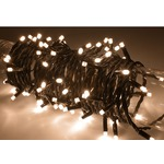 Warm White outdoor battery powered 80 LED light string with timer