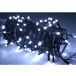 Cool White outdoor battery powered 160 LED light string with timer