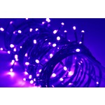 Violet outdoor battery powered 80 LED light string with timer