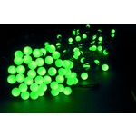 Green Mini LED bauble string lights, can be extended up to 6 sets from one mains plug