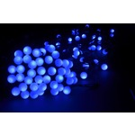 Blue Mini LED bauble string lights, can be extended up to 6 sets from one mains plug