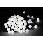 Bauble string light of 50 cool white LED lights with controller, can be extended up to 10 sets from one mains plug
