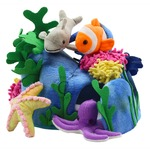 Under the Sea Finger Puppets Hide Away Set