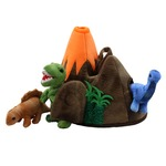 Dinosaurs in a Volcano Finger Puppets Hide Away Set