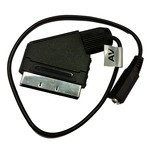 SCART to 3.5mm stereo socket audio adaptor for use with Phonak Roger transmitters and other audio devices