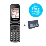 Amplicomms PowerTel M6750 Mobile Phone with FREE 16GB Micro SD Card