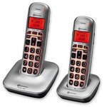 Amplicomms BigTel 1202 Big Button Cordless telephone twin pack