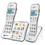 Geemarc AmpliDECT 595 Amplified cordless telephone twin pack with upto 50dB receiving volume