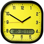 High Contrast Wall Clock - Yellow