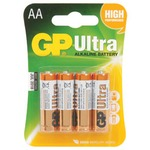 Alkaline batteries, AA, 1.5V, packed 4 /blister