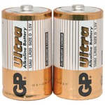 D alkaline batteries - GP Ultra - pack of 2