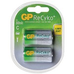 Pack of 2 C size 2600mAh ReCyko+ NiMH Rechargeable Batteries