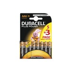 Duracell Power Plus AAA Batteries Pack of 5+3