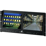 "Dual lcd colour monitor unit with led backlight for 19"" rack mounting"