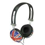 Union Jack Crystal Effect Stereo Headphones