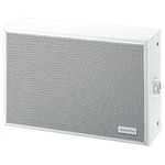 White  2-way coaxial PA wall speaker with 100V line technique, 10/6/4/2W RMS - 300 x 200 x 90 mm
