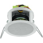 100V line small and compact PA ceiling speaker with a very wide bandwidth reproduction - 83mm diameter