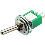 Precision toggle switch, 3A with low contact resistance of 20 mOhm max. - 1 x ON/ON