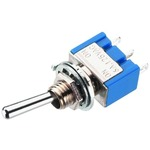 Momentary action precision single pole toggle switch, 6A, for high switching currents and long-life - 1 x ON/(ON)