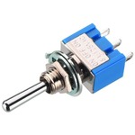 Standard precision toggle switch, 6A, for high switching currents and long-life - 1 x (ON)/OFF/(ON)