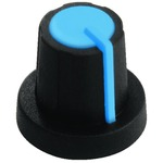 Blue/black rotary knob 11mm for 6mm shaft
