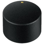 25mm rotary knob matt black with golden marking