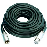 3 pin XLR plug to socket hi quality extension cable 15 metre