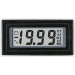 Lascar Digital Panel Voltmeter DC, LCD display 3.5-Digits ±1%, 57 x 27 mm