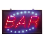 Super bright led 'bar' sign featuring static, flash and chase mode, supplied with a hanging kit and psu. indoor use only.