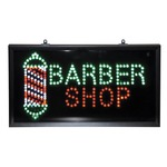 Super bright led barber shop sign featuring up to 100000 hours lamp life.