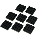 Set of 8 rubber feet for loudspeakers