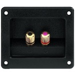 Square speaker terminal, loudspeaker screw connector with gold-plated metal connectors