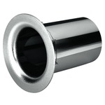 Chromium-plated bass-reflex speaker tube with elegant round edge at the outlet - SV = 29.2cm2