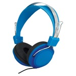 Blue headphones with a single-sided cable, they're ideal for music on the move. Compatible with smartphones, tablets and mp3 players, as well as computers and games consoles.