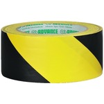 Yellow and black striped PVC self-adhesive marking tape - 50mm x 33m